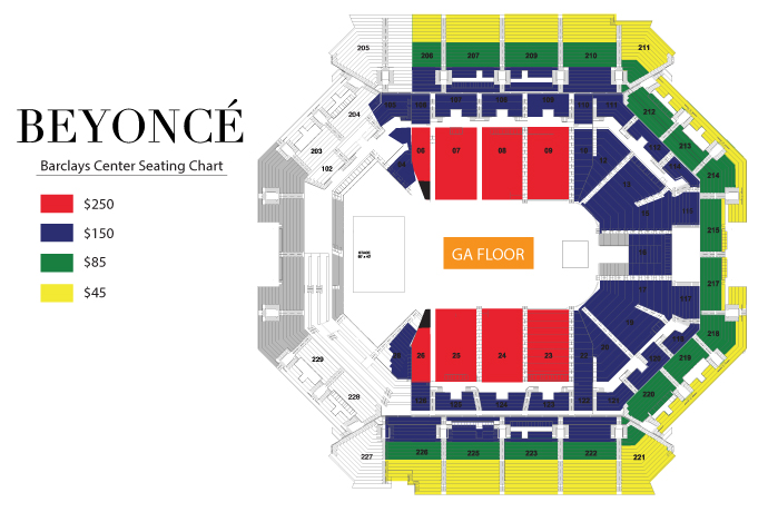 Barclays center beyonc for Barclays floor plan